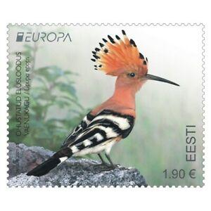 Stamp of ESTONIA 2021 - EUROPA - Endangered National Wildlife - Hoopoe