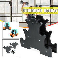 3-Tier Dumbbell Weight Holder Tree Barbell Stand Rack Bracket Organizer Home Gym
