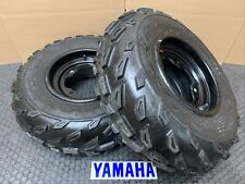 YAMAHA Front Tires BLACK Rims RAPTOR 660 700 350 Banshee Yfz450 blaster warrior
