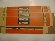 Lionel Licensed Stock Car type  Boxes - Reproduction (4 boxes)-unnumbered