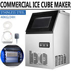 Commercial Grade Ice Maker 90lbs/24h Automatic Clear Cube Ice Making Machine photo