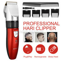 Professional Men Electric Cordless Hair Clipper Trimmer Barber Cutting Shaver US