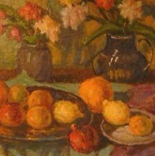 Nature morte aux fleurs et aux fruits Nicolas Melnikov  né en 1916-