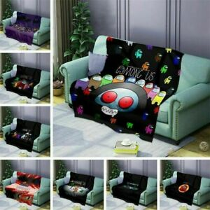 Game Among Us Blankets Soft Warm Flannel Printed Comfortable Cartoon Winter NEW~