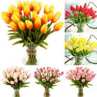 5Pcs Künstliche Tulpe Gefälschte Blume Seidenstrauß Real Touch Hause Wohnkultur