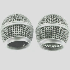 2 X New Replacement Ball Head Mesh Microphone Grille for Shure 565D PE56