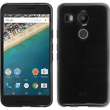 Custodia in Silicone Google Nexus 5X trasparente nero