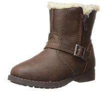 OshKosh Megan Boot Brown Faux Fur Lined Size 5 Little Girl Winter Fall Fashion