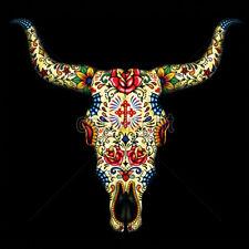 Day Of The Dead Sugar Skull Bull Dia De Los Muertes Animal T-Shirt Tee