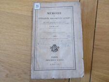 MEMOIRE SUR QUELQUES DOCUMENTS GENOIS DEUX CROISADE DE ST LOUIS 1842 MARINE