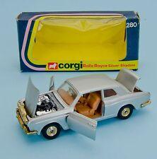 CORGI 280 ROLLS ROYCE SILVER SHADOW. argent métallisé. VNMINT/Boxed. années 1970