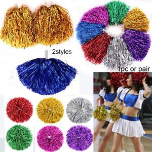 Handheld Pom Poms Cheerleader Cheerleading Cheer Dance Party Football Club Fancy