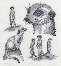 "9 x 12"" Embroidered Quilt Block - Pre Order - Meerkat Sketch"