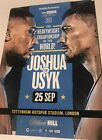 Anthony Joshua Vs Oleksandr Usyk Official Fight Programme - 25 Sep - Immaculate