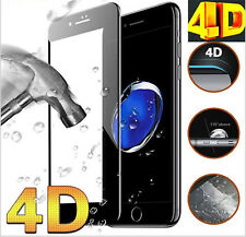 Pellicola Vetro Temperato 4D CURVO per iPhone 6 6s 7 8 X Plus Protezione Totale