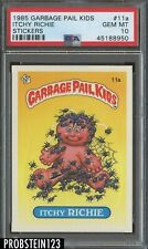 1985 Garbage Pail Kids Itchy Richie Stickers PSA 10 GEM MINT