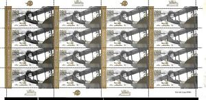 #10022 ARGENTINA 2021 AVIATION FIRST WOMEN PILOT CROSSING ANDES FULL SHEET MNH