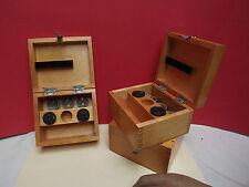 MICROSCOPE { Lomo } Biolam [ Accessory Case { Wood } + Eyepieces x7 & x15