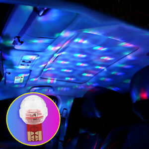 Car USB Interior Atmosphere Neon Light Music Colorful LED Lamp Decor Accessories