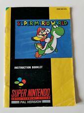 Super Mario World Super Nintendo Instruction Manual