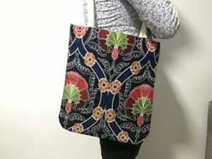 Lux Chenille Vintage Wool Rug Handbag Large Kilim Leather Tapestry Tote Bag