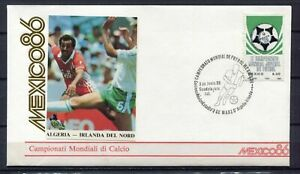 S13554) Mexico 3.6.1986 FDC Fifa Wc Football Algeria Aloba Ireland