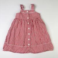 Gymboree Girls Red White Striped Sun Dress 4T Nautical Summer