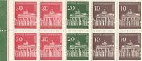 1966 Deutsche Bundespost Berlin Zusammendruck postfrisch 10,20,30 Pfennig