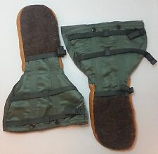 US MILITARY Arctic Extreme Cold Weather WOOL LEATHER MITTEN GLOVES Set