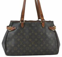 Authentic Louis Vuitton Monogram Batignolles Horizontal Tote Bag M51154 LV B5504
