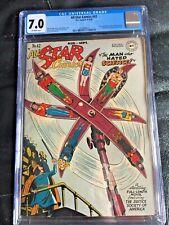ALL STAR COMICS #42 CGC FN/VF 7.0; OW; rare! new costumes Atom & Hawkman!