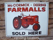 Vintage Antique Rustic Distressed FARMALL Farm Tractor Ad Tin Metal Sign New