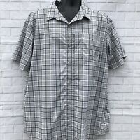 Columbia Gray Plaid Omni Wick Advanced Evaporation S/S Shirt Outdoor Sz XL