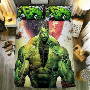 Superhero Duvet Cover Cartoon Bedding Set with Pillow Cases Single Double King