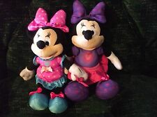 """2 Disney Minnie Mouse plush dolls 10"""" by Just Play"""