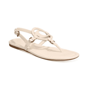 COACH Women's Jeri Leather Sandals Chalk Size 5 M