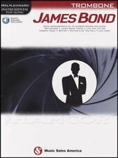 James Bond Instrumental Play-Along for Trombone Sheet Music Book with Audio