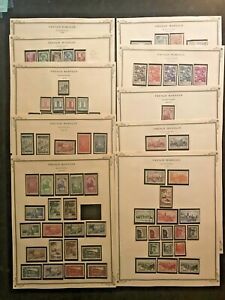 STAMPS FRANCE/COLONY MOROCCO 1939-55 CAT. VALUE $300 MINT & USED 9pg #04