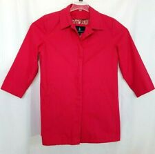London Fog Womens XL Lined Rain & Shine Coat Bold Pink