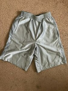 Starter Boys Silver Metallic Loose Active Wear Athletic Shorts Size L (10-12)