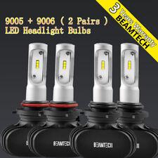 4X 9005+9006 LED Headlight Bulbs Conversion Kit High Low Beam 16000LM 100W 6500K