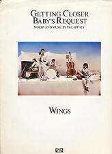 Getting Closer / Babies Request - Wings - 1979 Sheet Music