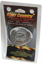 "2"" RIVER COUNTRY SS DIAL BBQ CHARCOAL GAS ELECTRIC GRILL SMOKER PIT THERMOMETER"