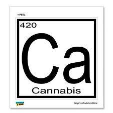 Cannabis - 420 - Ca - Periodic Table - Window Bumper Locker Sticker
