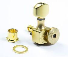 Genuine Sperzel Trimlok 6 in-line Locking Satin Gold tuners NEW Auth Dealer