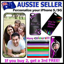 For iPhone 5G 5S Personalised PHOTO case hard cover PICTURE LOGO customised !
