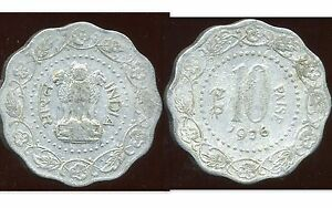 INDE 10 paise 1976