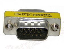 VGA HD15 Male to Male Mini Gender Changer Adapter(AH1511)