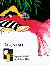 Publicité Advertising 097  1979   Dior par René Gruau parfum Dioressence*