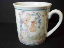 Precious Moments Porcelain mini coffee mug Joy on Arrival New Baby 1991 3 oz